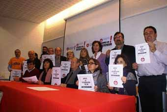 """Presentación en Zaragoza de la Camapa """"Exigimos un Reférendum"""""""