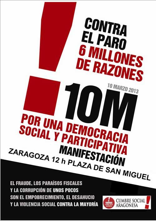 AMPLIAR Cartel Manifestación 10 Marzo